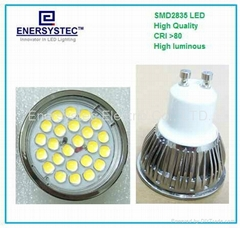 5W GU10 LED Spotlight dimming 2835 LED Samsung Chips 40W Equivalent