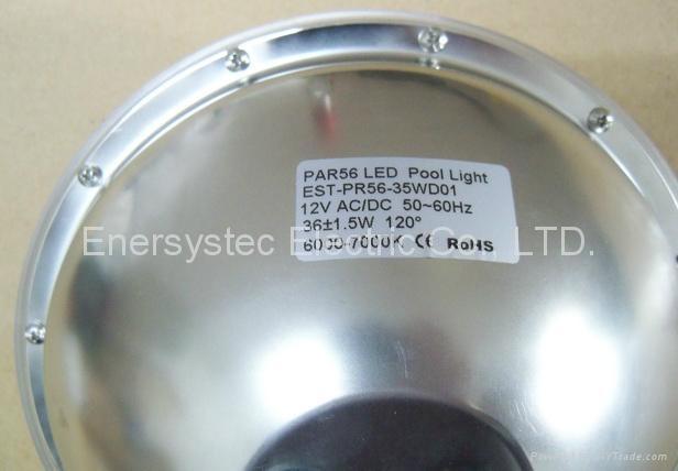 Par56 LED Pool Lighting 316 Stainless Steel plastic 3