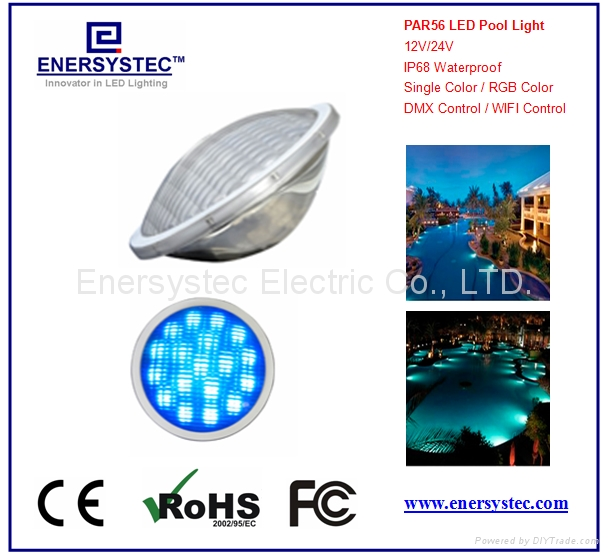 Par56 LED Pool Lighting 316 Stainless Steel plastic 1