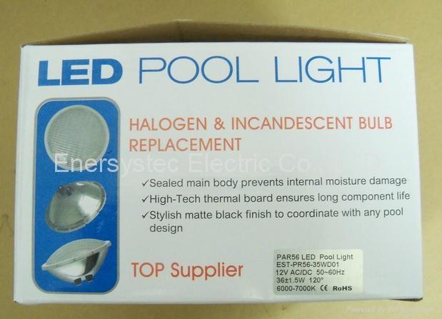 Par56 LED Pool Lighting 316 Stainless Steel plastic 7