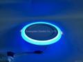 Double Color LED Panel Light, Dual Color White 12W+Blue 4W 4