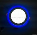 Double Color LED Panel Light, Dual Color White 12W+Blue 4W