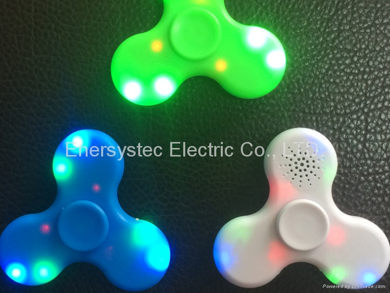 Fidget Spinner with Bluetooth Speaker USB Rechargeable hand Spinner Trick Target 7