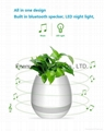 Music Plant Pot with Bluetooth Speaker LED Night Light Piano Music Flowerpots 14