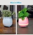 Music Plant Pot with Bluetooth Speaker LED Night Light Piano Music Flowerpots 12