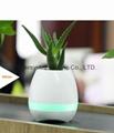 Music Plant Pot with Bluetooth Speaker LED Night Light Piano Music Flowerpots 3