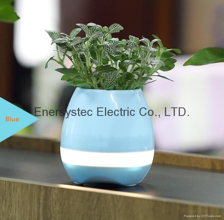 Music Plant Pot with Bluetooth Speaker LED Night Light Piano Music Flowerpots 1
