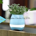 Music Plant Pot with Bluetooth Speaker LED Night Light Piano Music Flowerpots
