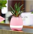 Music Plant Pot with Bluetooth Speaker LED Night Light Piano Music Flowerpots 2