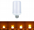 LED Flame Effect Light Bulb, G-Sensor for Upside Down Lights