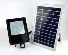 Motion Sensor Solar LED Floodlight,IP65, 15W LED Light Dusk to Dawn