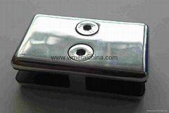 Flat Glass clamp glass to glass connector