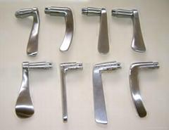 脱蜡精密铸造不锈钢门拉手铸件