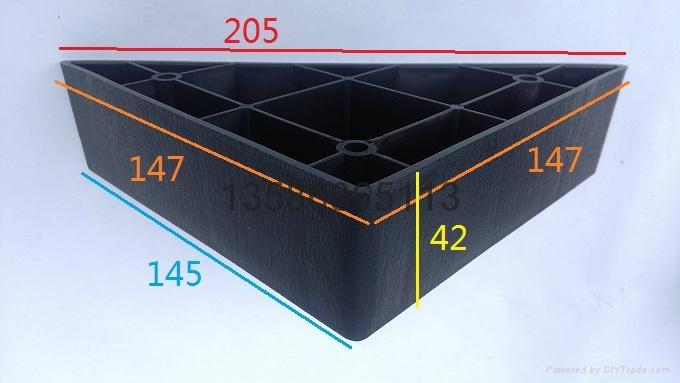 三角塑料沙發腳 2
