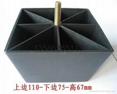 浙江海宁金能生产厂家优惠直销方脚塑料沙发脚柜脚