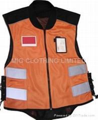 reflective vest, mesh vest