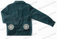 Air conditioned jacket with battery fans