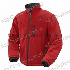 Battery heated jacket for winter
