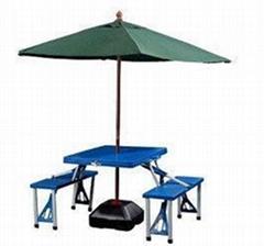 折叠连体广告野餐桌椅