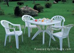 塑料戶外休閑野餐桌椅 1