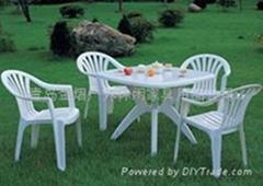 塑料戶外休閑野餐桌椅