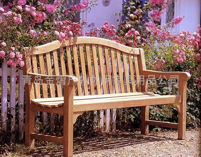 戶外休閑實木長椅 1