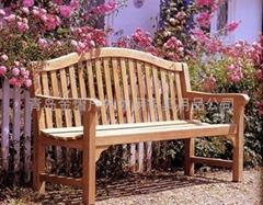 户外休闲实木长椅