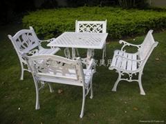 鑄鐵戶外休閑桌椅