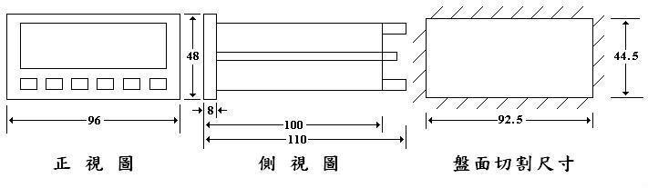 顯示型--高速型數轉(線)速錶 2