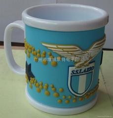 PVC马克杯,意甲球队杯子,蓝色拉齐奥pvc杯