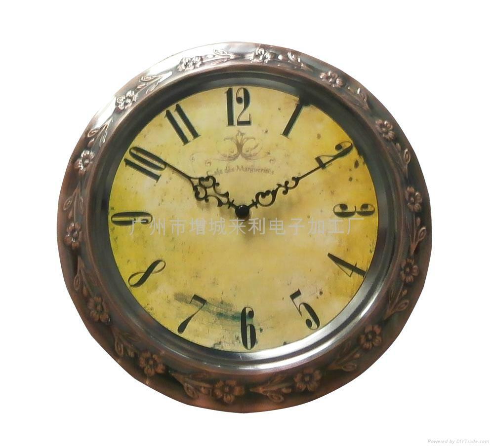 classic metal wall clock - LTW1210