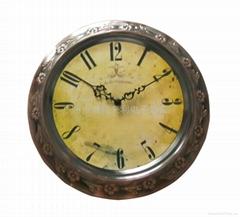 classic metal wall clock