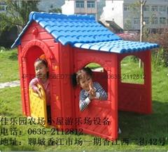 小型遊樂場用農場小屋