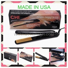 "TOP CHI Flat Irons,chi Hair Straighteners Black 1"" Ceramac by Farouk MADE IN USA (Hot Product - 2*)"