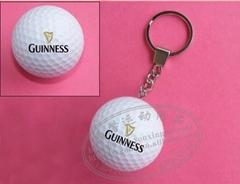 高尔夫礼品球装饰钥匙挂扣
