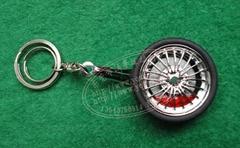 汽车轮胎可旋转带刹车时钟
