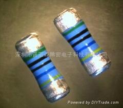 高阻值耐高电压金属铀膜圆柱状贴片电阻器