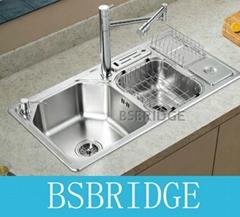 BSBRIDGE多功能水槽304不鏽鋼一體拉伸,SC9046