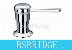 Soap dispensor brass, for kitchen sink