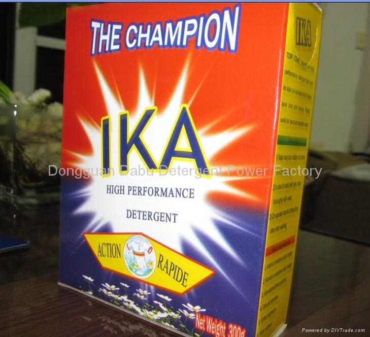 300g paper box packing super fragrant detergent powder