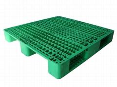 川字1100*1100带八根钢管型货架塑料托盘1200*1000