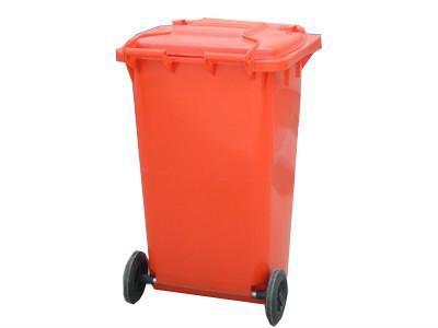 重庆环卫型小区用塑料垃圾桶  1