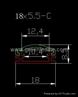 Aluminum profile for SMD5050&SMD3528 LED strip&Profilés Aluminium pour ruban LED 2