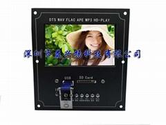 4.3寸液晶屏幕DTS无损 MP4 MP5解码板全格式播放蓝牙音频接收器