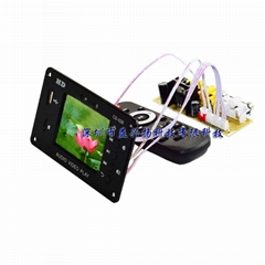 7v-24v 时钟 定时开关多媒体播放2.8寸液晶屏 MP4 MP5视频解码板