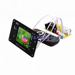 7v-24v 時鐘 定時開關多媒體播放2.8寸液晶屏 MP4 MP5視頻解碼板
