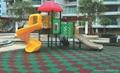 彩色橡胶地砖