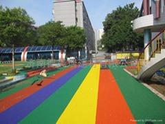 幼儿園室外EPDM彩色塑膠
