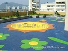 幼儿園室外EPDM彩色塑膠地面