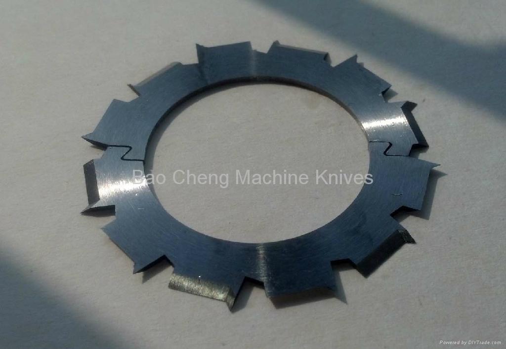帶異形齒連接機械刀片 1